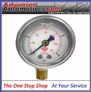 Webcon Fuel Injection Pressure Gauge 1/8npt Thread 8 Bar Rating Glycerine Damped
